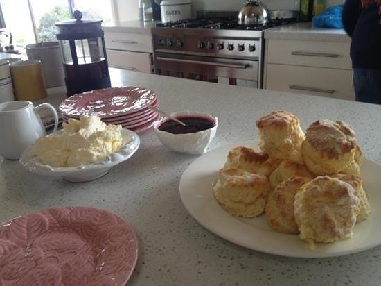 Curringa Farm: Tea set... the home made jam and cream are very yummy