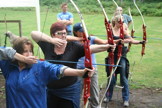 Nottingham, UK : Archery at The Adrenalin Jungle