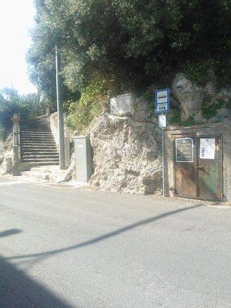 Hotel Le Terrazze: The Sita bus stop, opposite the hotel next door.