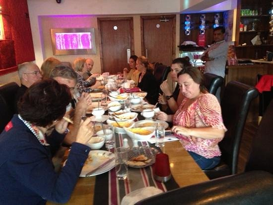 Ruposhi Indian Restaurant: after cookin lesson guest enjoy there won made food in Ruposhi Dublin