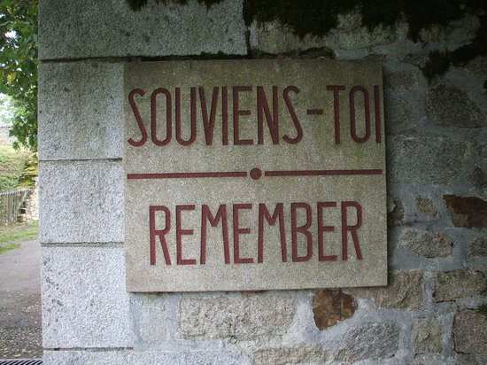 Oradour-sur-Glane old town: remember