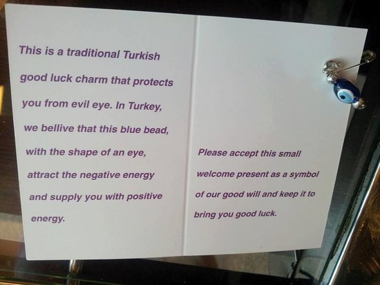 Traditional Turkish good luck charm - Picture of Point Hotel