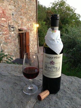 Fattoria Poggerino: View with wine