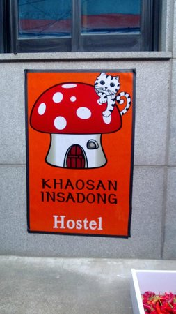 Khaosan Seoul Insadong: This is the sign on the front of building