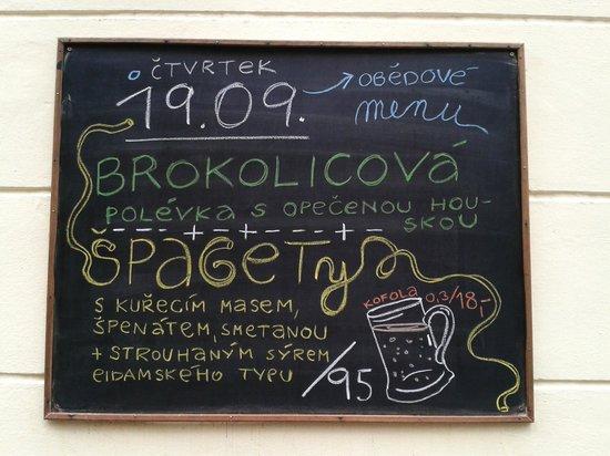Restaurace Orisek: chalk board