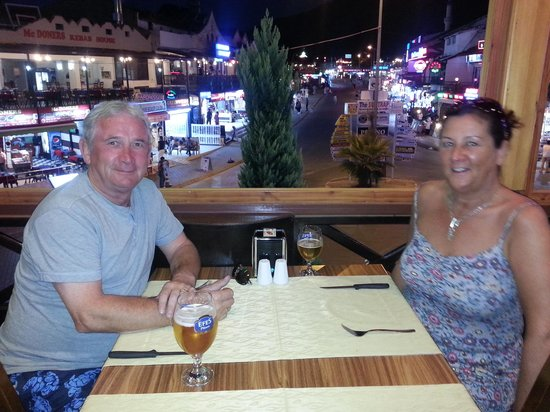 The White Man Restaurant: About to enjoy a creat meal at Whiteman Restaraunt Hisaronu