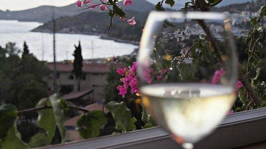 Hotel Kayahan: Akşam şarap (ikramı) keyfi..