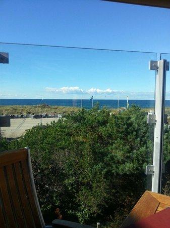 Strandhaus Orange Blue: Blick von der Sonnenterrasse