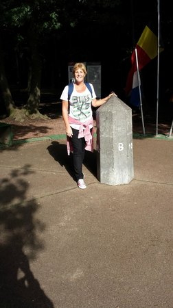 Three Country Border: Standing in three countries simultaneously!