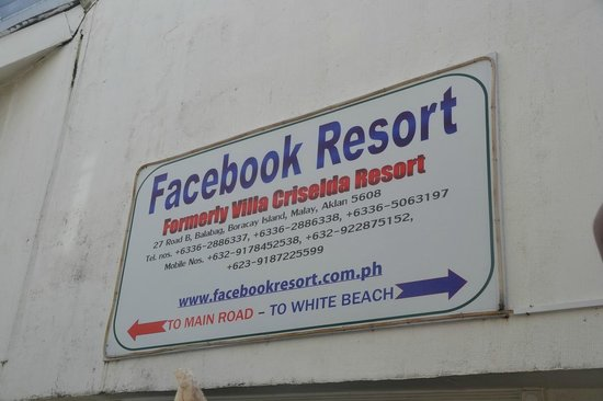 Villa Criselda Resort: Facebook Resort is the new name of Villa Criselda