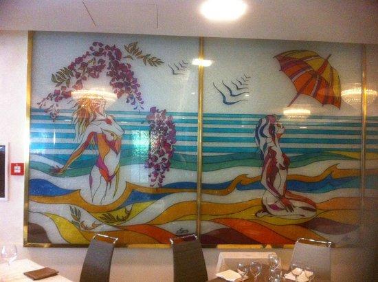 Hotel Torino Wellness & Spa: Wunderschöne Glasmalereien im Speisesaal