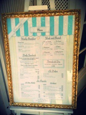 Pudding Barcelona: la carta