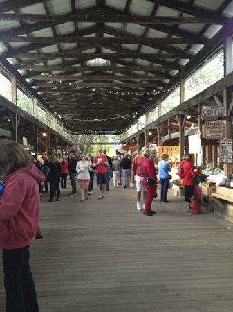 Ithaca Farmers Market: The main thoroughfare