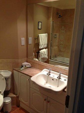 Woodbury Park Hotel & Golf Club: Bathroom with deluge shower