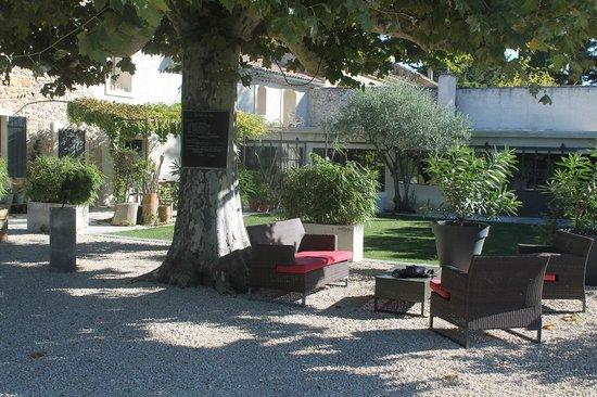 Au Coin des Figuiers: Under the trees