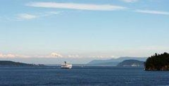 By the Sea BnB: watch The Anacortes Washington USA Ferry from your room