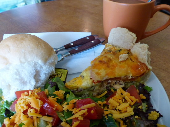 The Beandock: Bacon double-cheese quiche