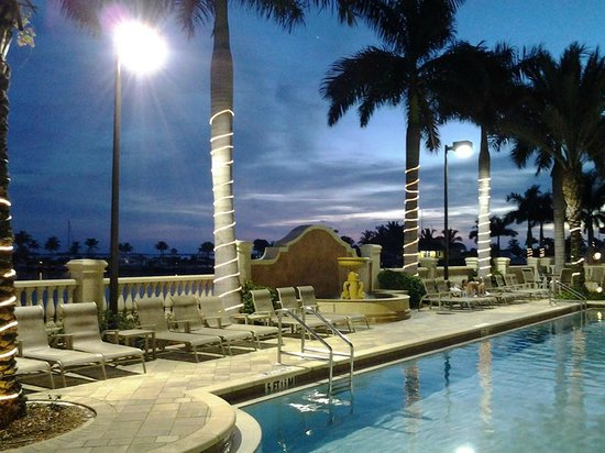 The Westin Cape Coral Resort At Marina Village: The pool at dusk with music in the background