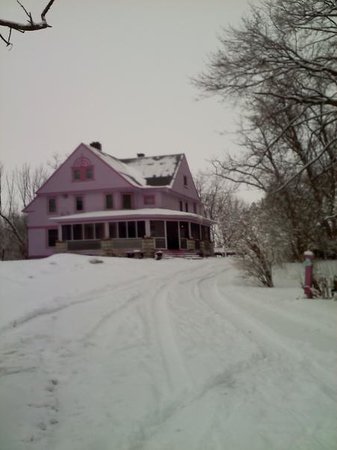Bay Port, MI: Winter view of the inn on the hill....