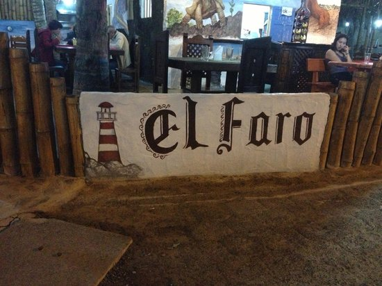 El Faro: The sign out front