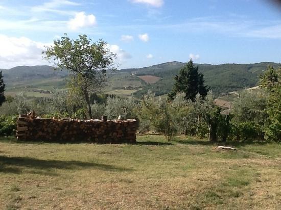Ancora del Chianti Eco BB & Art Retreat in Tuscany : Blick in die Landschaft