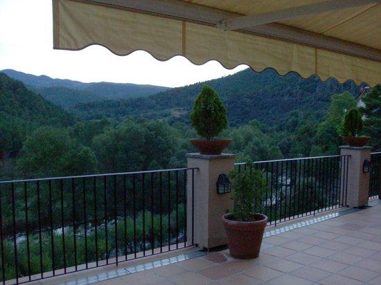 Hotel-balneari Sant Vicenc: Beautiful view from the hotel terrace.