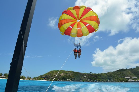 The St. Regis Bora Bora Resort: Parasailing