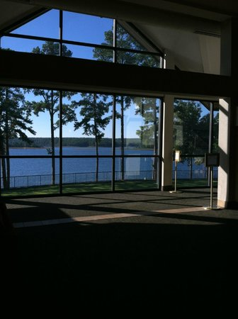 DeGray Lake Resort State Lodge : Part of Lobby next to restaurant...back side is all windows