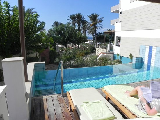 Constantinou Bros Asimina Suites Hotel: The view from our room on to private pool