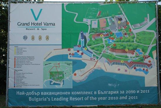 Grand Hotel Varna: План комплекса
