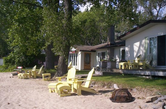 Doll House Bed & Breakfast at Sandbanks: Beach chairs & fire pit on Doll House Beach