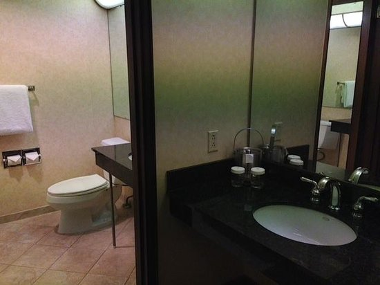 Doubletree Missoula/Edgewater: Jr. Suite Bathroom with 2 sinks