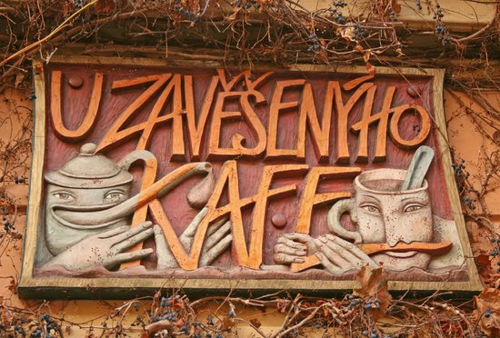 U Zavesenyho Kafe: Look for the sign