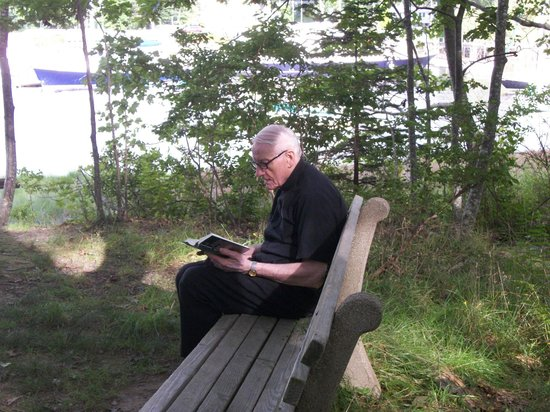 St. Anthony's Monastery: A visiting priest enjoying a relaxing afternoon