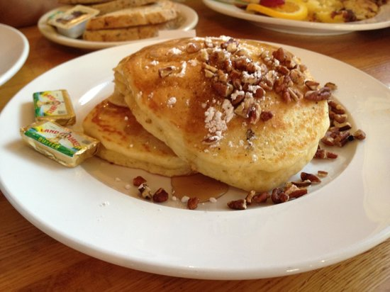 Sunflower Bakery and Cafe: Pecan Pancakes (2) $6.00