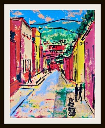 Cristi Fer Art Gallery and Workshops: San Miguel bright September street 2013