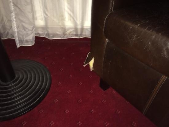 Best Western Amsterdam Airport Hotel: ripped furniture