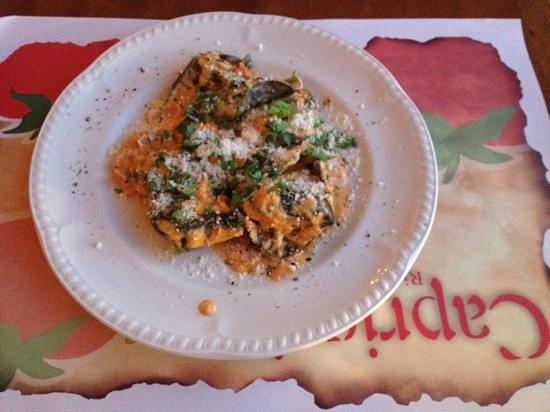 Capricci: salmon filled pasta
