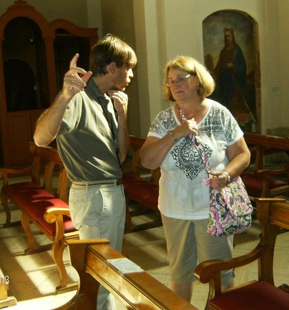 Italy Rome Tour: In a church along the Appian Way.