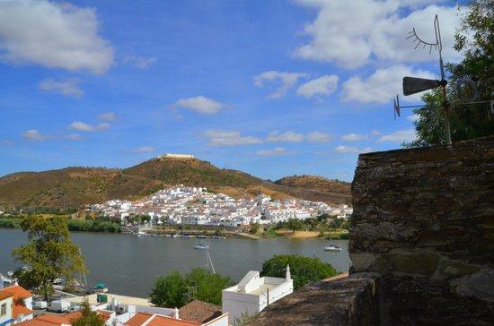 Sanlúcar del Guadiana, desde la batería del castillo de Alcoutim
