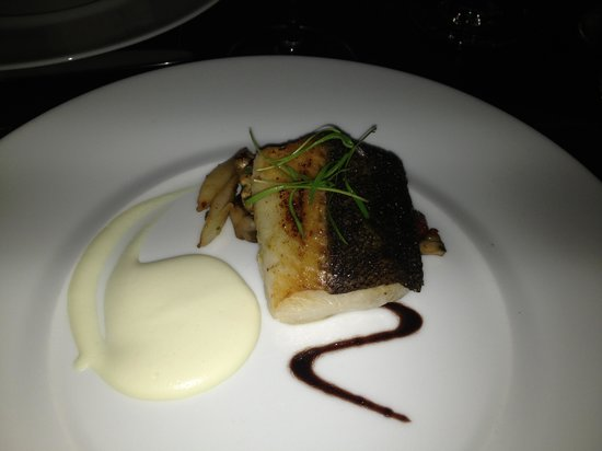 Scarpetta : Fennel Spiced Black Cod, Mantecato (A Savory Spread of Whipped Salt Cod & potatoes), Concentrate