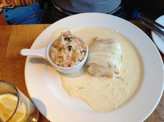 The Waterfront Fishouse Restaurant: local cod fillet
