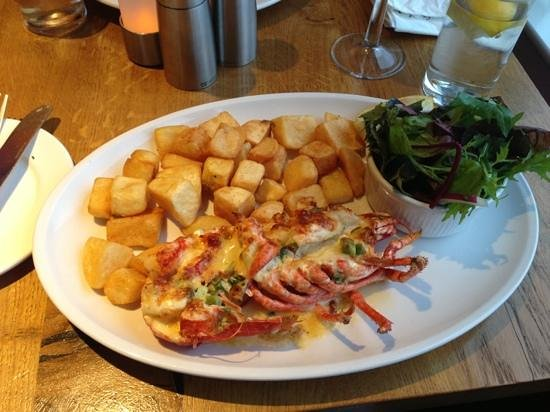 The Waterfront Fishouse Restaurant: Scottish lobster Thermidor