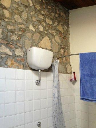Fattoria di Castiglionchio: Hard to clean bathroom