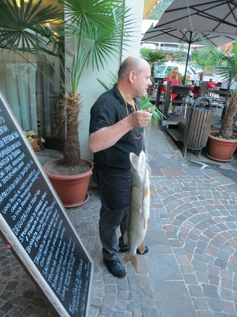 Osteria La Contrada: delivery of fresh fish
