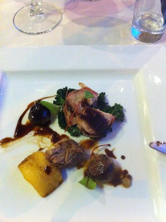 Nonsolovino: Partridge, cheek croquette, chestnuts...yum.