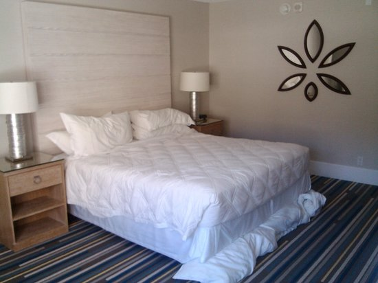 Sheraton Fisherman's Wharf Hotel: King room, from window (just as we're leaving, so bed not made)