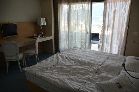 Hotel Garni Muralto: Schlafzimmer im Studio