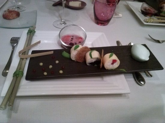 Restaurant Le Gambetta : Maki tout fruits rouges/mascarpone/ verveine