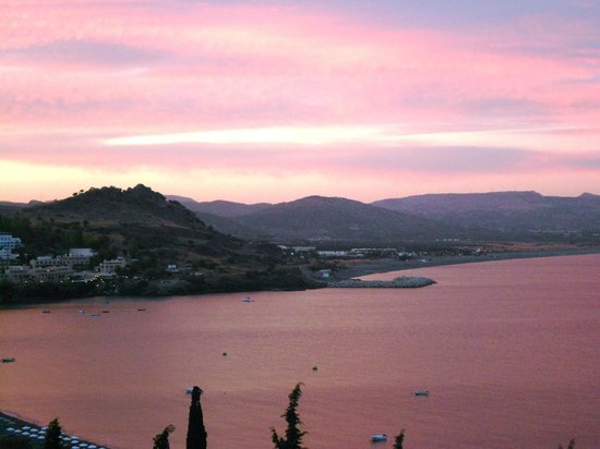 Lindos Mare Hotel : Sunset view from balcony